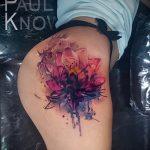 тату мандала на бедре - фото пример готовой татуировки от 01052016 11