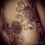 тату мандала на бедре - фото пример готовой татуировки от 01052016 12