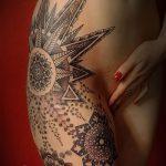 тату мандала на бедре - фото пример готовой татуировки от 01052016 13