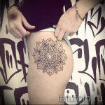 тату мандала на бедре - фото пример готовой татуировки от 01052016 2