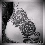 тату мандала на бедре - фото пример готовой татуировки от 01052016 7