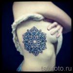 тату мандала на боку - фото пример готовой татуировки от 01052016 1