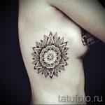 тату мандала на боку - фото пример готовой татуировки от 01052016 4