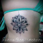 тату мандала на боку - фото пример готовой татуировки от 01052016 5
