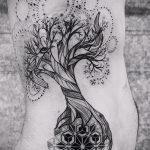 тату мандала на боку - фото пример готовой татуировки от 01052016 6