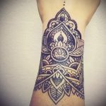 тату мандала на запястье - фото пример готовой татуировки от 01052016 2