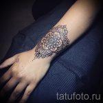 тату мандала на запястье - фото пример готовой татуировки от 01052016 3