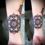 тату мандала на запястье - фото пример готовой татуировки от 01052016 4