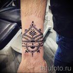 тату мандала на запястье - фото пример готовой татуировки от 01052016 6
