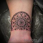тату мандала на запястье - фото пример готовой татуировки от 01052016 67