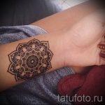 тату мандала на запястье - фото пример готовой татуировки от 01052016 8