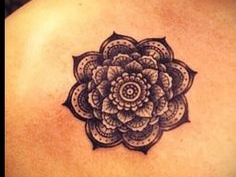 тату мандала на ключице - фото пример готовой татуировки от 01052016 2