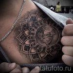 тату мандала на ключице - фото пример готовой татуировки от 01052016 3