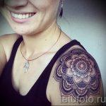тату мандала на плече - фото пример готовой татуировки от 01052016 1