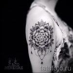 тату мандала на плече - фото пример готовой татуировки от 01052016 10