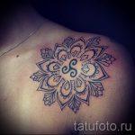 тату мандала на плече - фото пример готовой татуировки от 01052016 11