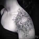 тату мандала на плече - фото пример готовой татуировки от 01052016 2