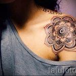 тату мандала на плече - фото пример готовой татуировки от 01052016 4
