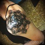 тату мандала на плече - фото пример готовой татуировки от 01052016 6