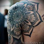тату мандала на плече - фото пример готовой татуировки от 01052016 8