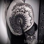 тату мандала на плече - фото пример готовой татуировки от 01052016 9