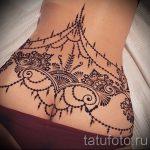 тату мандала на пояснице - фото пример готовой татуировки от 01052016 2