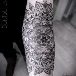 тату мандала на предплечье - фото пример готовой татуировки от 01052016 1