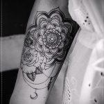 тату мандала на предплечье - фото пример готовой татуировки от 01052016 4