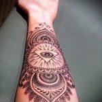 тату мандала на руке - фото пример готовой татуировки от 01052016 16