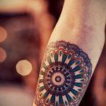 тату мандала на руке - фото пример готовой татуировки от 01052016 17