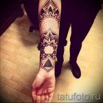тату мандала на руке - фото пример готовой татуировки от 01052016 18