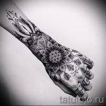 тату мандала на руке - фото пример готовой татуировки от 01052016 27