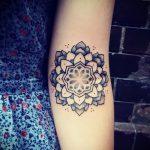 тату мандала на руке - фото пример готовой татуировки от 01052016 29