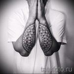 тату мандала на руке - фото пример готовой татуировки от 01052016 47