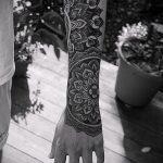 тату мандала на руке - фото пример готовой татуировки от 01052016 5