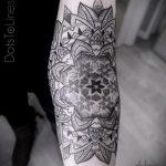 тату мандала на руке - фото пример готовой татуировки от 01052016 9