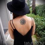 тату мандала на спине - фото пример готовой татуировки от 01052016 11