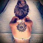 тату мандала на спине - фото пример готовой татуировки от 01052016 12