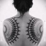 тату мандала на спине - фото пример готовой татуировки от 01052016 14