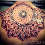тату мандала на спине - фото пример готовой татуировки от 01052016 15