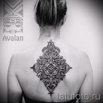 тату мандала на спине - фото пример готовой татуировки от 01052016 2