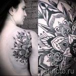 тату мандала на спине - фото пример готовой татуировки от 01052016 21