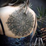 тату мандала на спине - фото пример готовой татуировки от 01052016 25