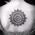 тату мандала на спине - фото пример готовой татуировки от 01052016 26