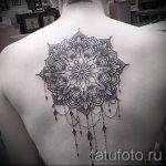 тату мандала на спине - фото пример готовой татуировки от 01052016 27