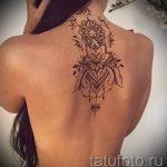 тату мандала на спине - фото пример готовой татуировки от 01052016 3