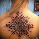 тату мандала на спине - фото пример готовой татуировки от 01052016 30