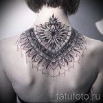 тату мандала на спине - фото пример готовой татуировки от 01052016 31