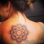 тату мандала на спине - фото пример готовой татуировки от 01052016 32
