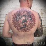 тату мандала на спине - фото пример готовой татуировки от 01052016 34